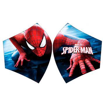 Mascarilla Spiderman subiendo edificio