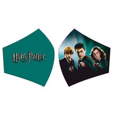 Mascarilla Harry Potter con sus amigos con varitas