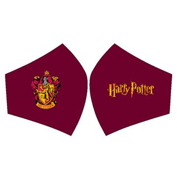 Mascarilla Harry Potter con escudo de Gryffindor