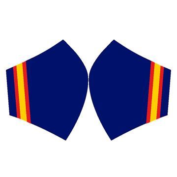 Mascarilla Bandera España Largo Fondo Azul