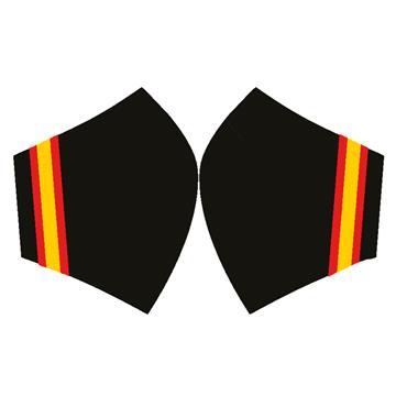 Mascarilla Bandera España Largo Fondo Negro