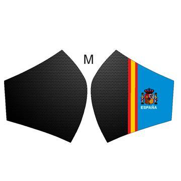 Mascarilla Fibra de carbono con bandera España