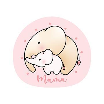 Cojín Elefante Mamá